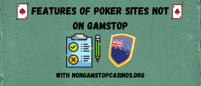 poker sites not on gamstop features