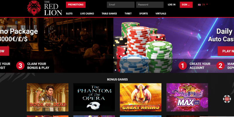 red lion casino UK