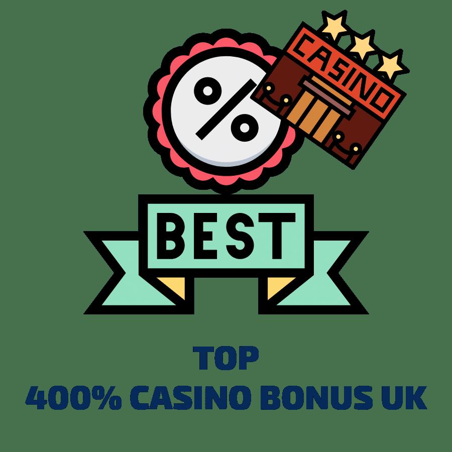 400% casino bonus uk